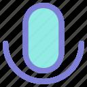 audio, microphone, music, video icon