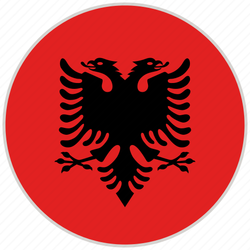 Albania, circular, country, flag, national, national flag, rounded icon - Download on Iconfinder
