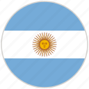argentina, circular, country, flag, national, national flag, rounded icon