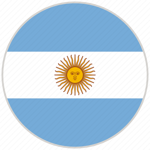 Argentina, circular, country, flag, national, national flag, rounded icon - Download on Iconfinder