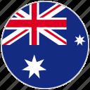 australia, circular, country, flag, national, national flag, rounded