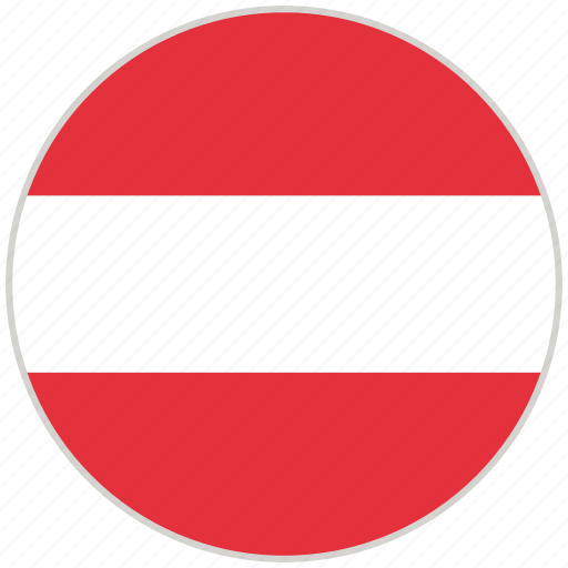 Austria, circular, country, flag, national, national flag, rounded icon - Download on Iconfinder