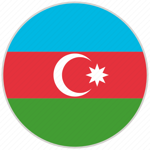 Azerbaijan, circular, country, flag, national, national flag, rounded icon - Download on Iconfinder