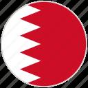 bahrain, circular, country, flag, national, national flag, rounded