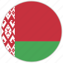 belarus, circular, country, flag, national, national flag, rounded