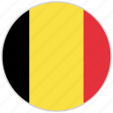 belgium, circular, country, flag, national, national flag, rounded