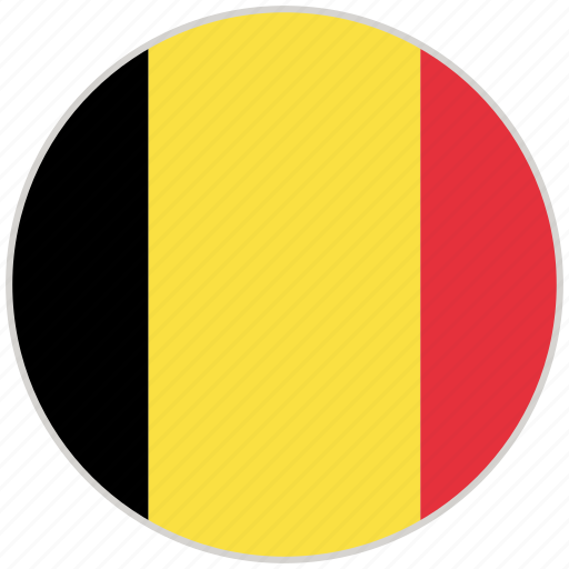Belgium, circular, country, flag, national, national flag, rounded icon - Download on Iconfinder