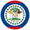 belize, circular, country, flag, national, national flag, rounded