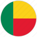 benin, circular, country, flag, national, national flag, rounded