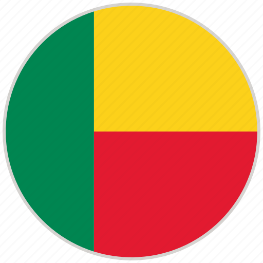 Benin, circular, country, flag, national, national flag, rounded icon - Download on Iconfinder
