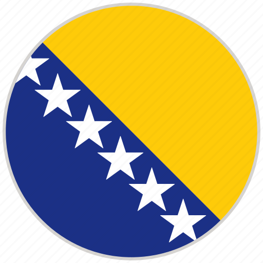 bosnia and herzegovina, circular, country, flag, national, national flag, rounded icon