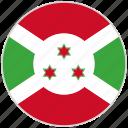 burundi, circular, country, flag, national, national flag, rounded