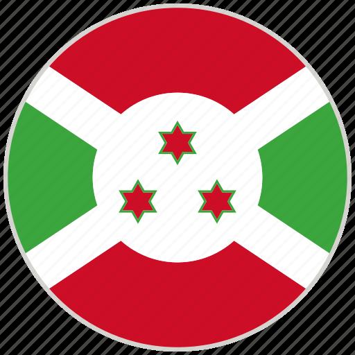 burundi, circular, country, flag, national, national flag, rounded icon
