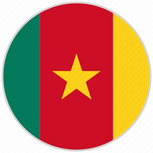 Cameroon, circular, country, flag, national, national flag, rounded icon - Download on Iconfinder