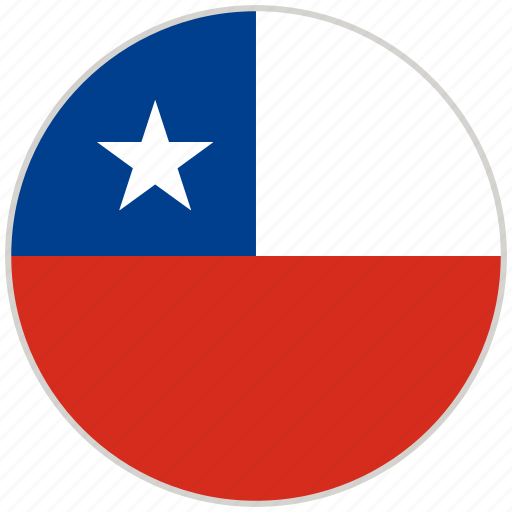 chile, circular, country, flag, national, national flag, rounded icon