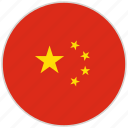china, circular, country, flag, national, national flag, rounded icon