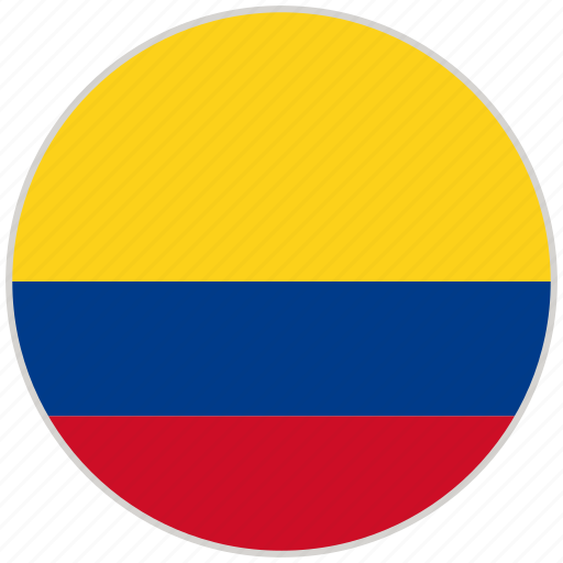 Circular, colombia, country, flag, national, national flag, rounded icon - Download on Iconfinder