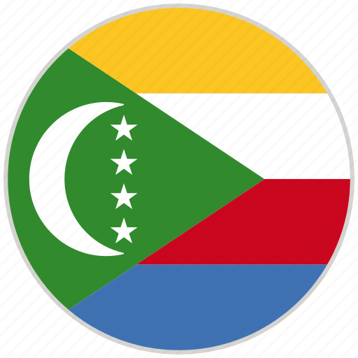 Circular, comoros, country, flag, national, national flag, rounded icon - Download on Iconfinder