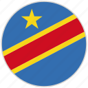 circular, congo, country, flag, national, national flag, rounded