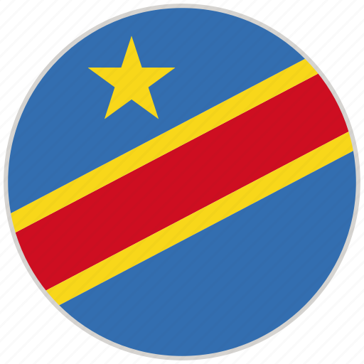 Circular, congo, country, flag, national, national flag, rounded icon - Download on Iconfinder