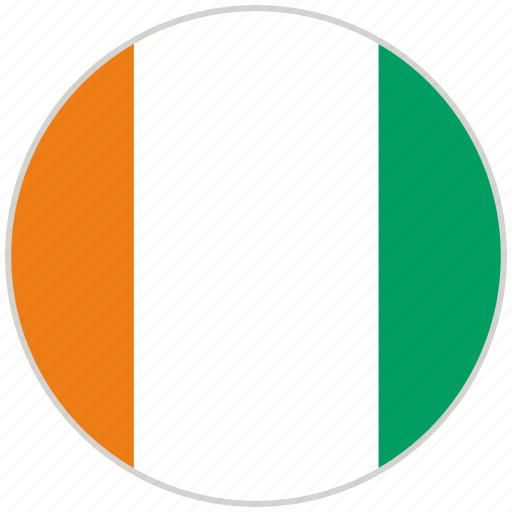 circular, cote d lvoire, country, flag, national, national flag, rounded icon