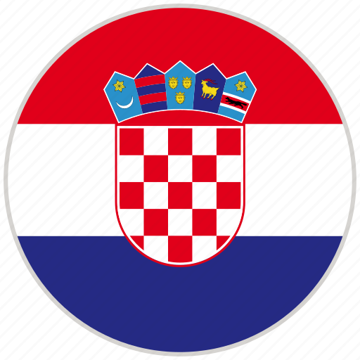 Circular, country, croatia, flag, national, national flag, rounded icon - Download on Iconfinder