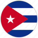 circular, country, cuba, flag, national, national flag, rounded