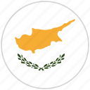 circular, country, cyprus, flag, national, national flag, rounded icon
