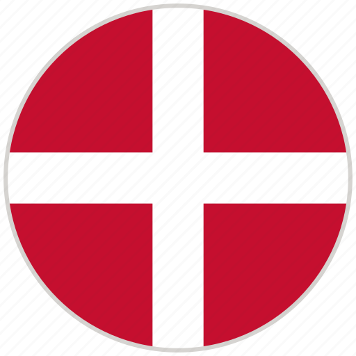 Circular, country, denmark, flag, national, national flag, rounded icon - Download on Iconfinder