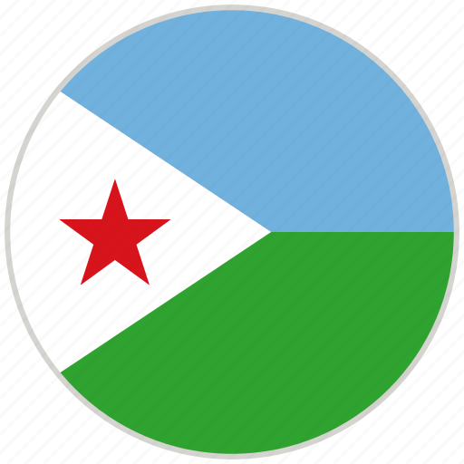 Circular, country, djibouti, flag, national, national flag, rounded icon - Download on Iconfinder