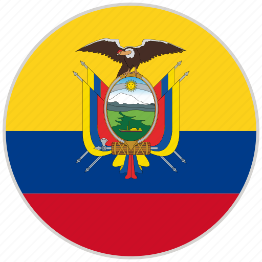 circular, country, ecuador, flag, national, national flag, rounded icon