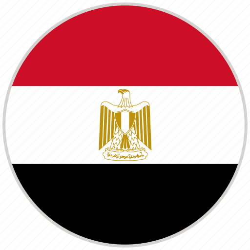 circular, country, egypt, flag, national, national flag, rounded icon
