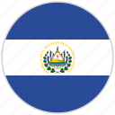 circular, country, el salvador, flag, national, national flag, rounded