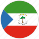 circular, country, equatorial guinea, flag, national, national flag, rounded
