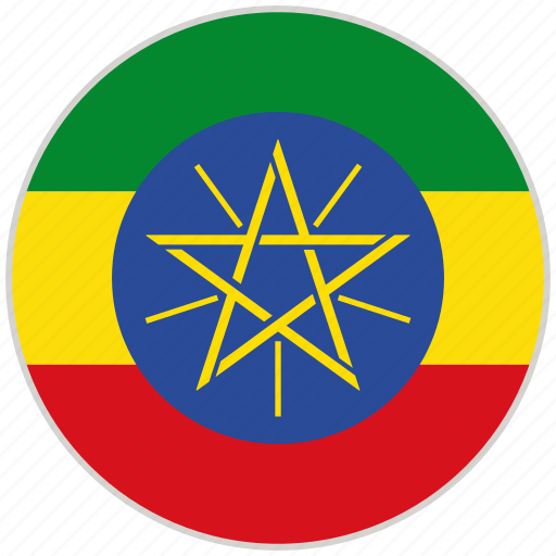 circular, country, ethiopia, flag, national, national flag, rounded icon