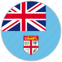 circular, country, fiji, flag, national, national flag, rounded