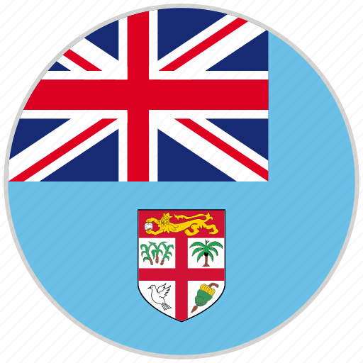 circular, country, fiji, flag, national, national flag, rounded icon