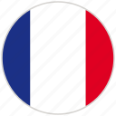 circular, country, flag, france, national, national flag, rounded icon