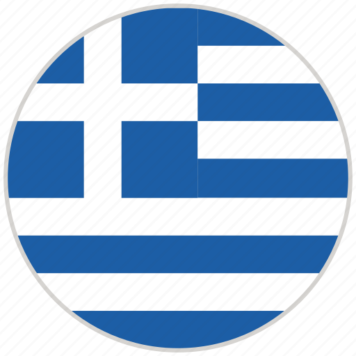 Circular, country, flag, greece, national, national flag, rounded icon - Download on Iconfinder