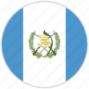 circular, country, flag, guatemala, national, national flag, rounded