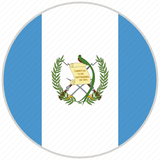 Circular, country, flag, guatemala, national, national flag, rounded icon - Download on Iconfinder