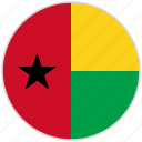 circular, country, flag, guinea, national, national flag, rounded