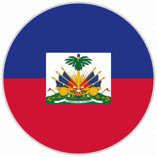circular, country, flag, haiti, national, national flag, rounded icon