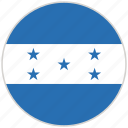 circular, country, flag, honduras, national, national flag, rounded