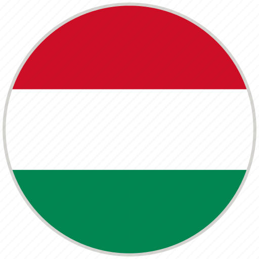 circular, country, flag, hungary, national, national flag, rounded icon