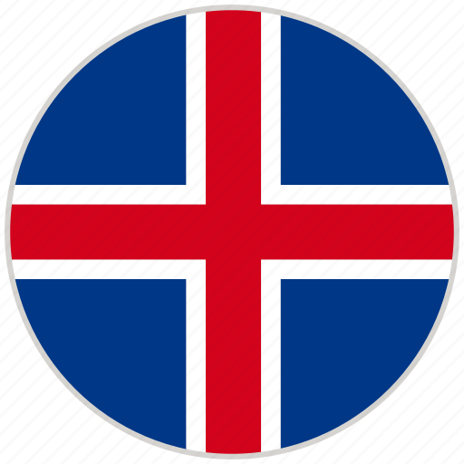 Circular, country, flag, iceland, national, national flag, rounded icon - Download on Iconfinder