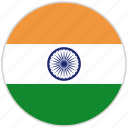 circular, country, flag, india, national, national flag, rounded
