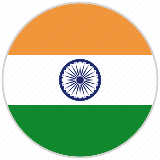 Circular, country, flag, india, national, national flag, rounded icon - Download on Iconfinder