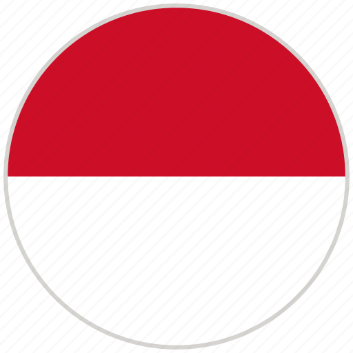Circular Country Flag Indonesia National National Flag Rounded Icon Download On Iconfinder