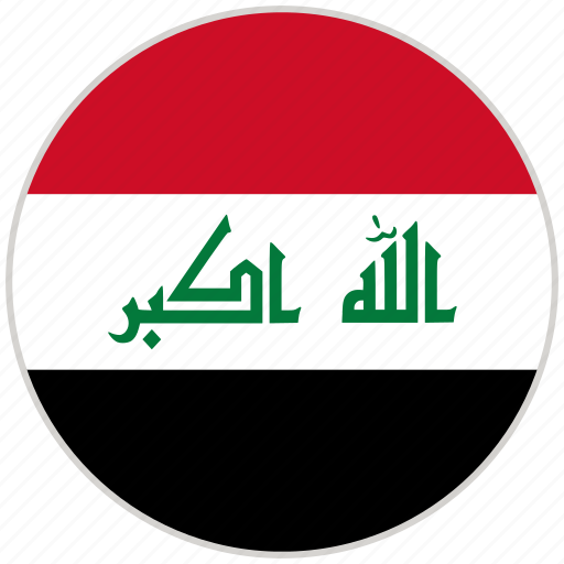 Circular, country, flag, iraq, national, national flag, rounded icon - Download on Iconfinder